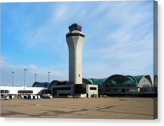 Air Traffic Control Canvas Print - St. Louis Airport by Mark Williamson