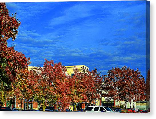 St. Louis Blues Canvas Print - St. Louis -  Blue Sky In Autumn - Luther  Fine Art   by Luther Fine Art