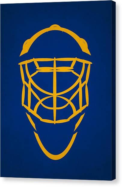 St. Louis Blues Canvas Print - St Louis Blues Goalie Mask by Joe Hamilton