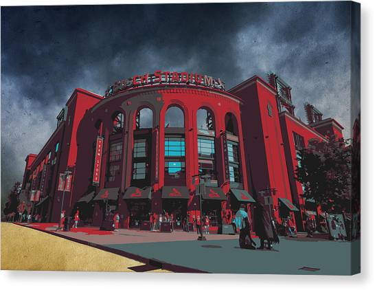 St. Louis Busch Stadium Cardinals 9162 Art Canvas Print