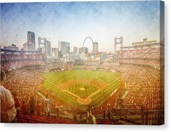 St. Louis Cardinals Canvas Print - St. Louis Cardinals Busch Stadium Texture 2 by David Haskett II