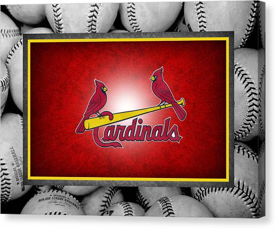 Cardinal Canvas Print - St Louis Cardinals by Joe Hamilton