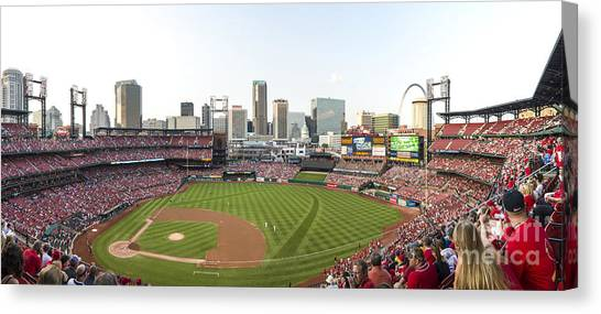 St. Louis Cardinals Pano 1 Canvas Print