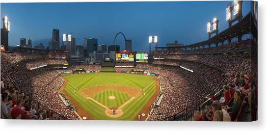 St. Louis Cardinals Busch Stadium Pano 5 Canvas Print
