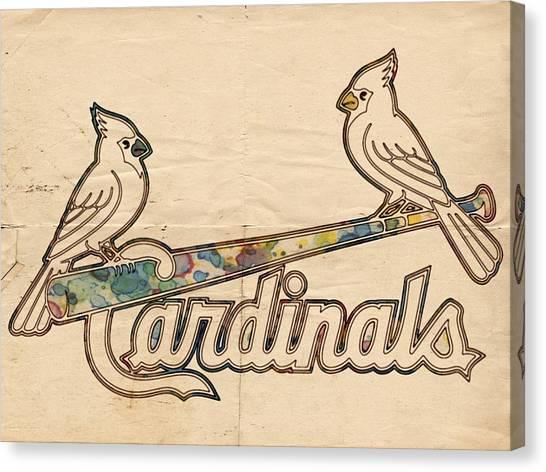 St. Louis Cardinals Canvas Print - St Louis Cardinals Poster Art by Florian Rodarte