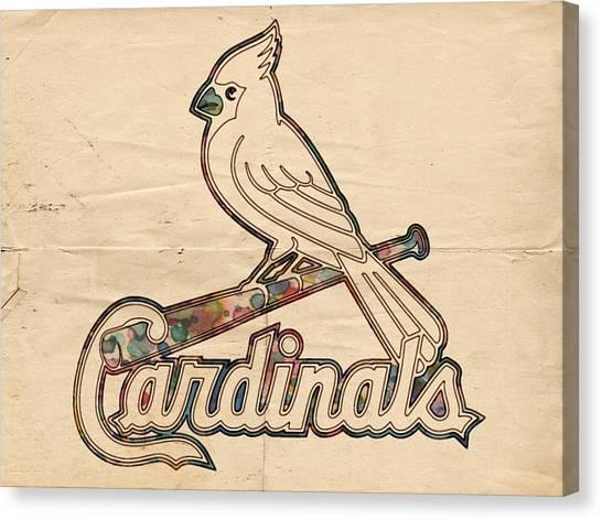 St. Louis Cardinals Canvas Print - St Louis Cardinals Poster Vintage by Florian Rodarte