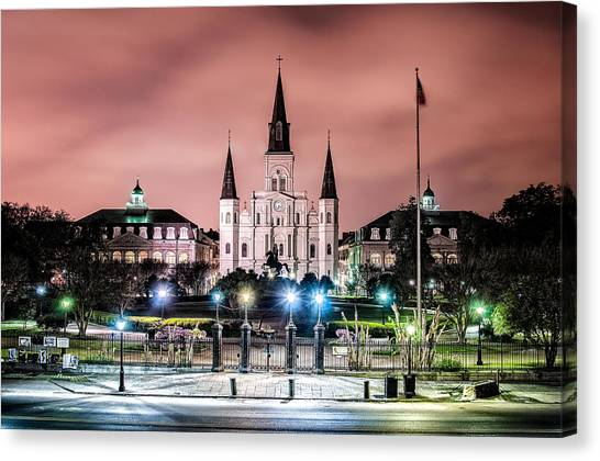 St. Louis Cathedral In The Morning Canvas Print