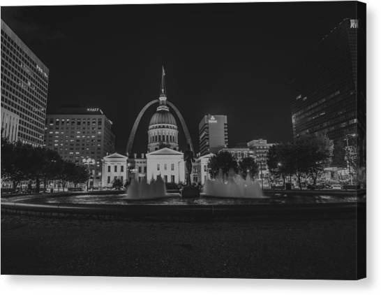 University Of Missouri Canvas Print - St. Louis Missouri Gateway Arch 10 by David Haskett II