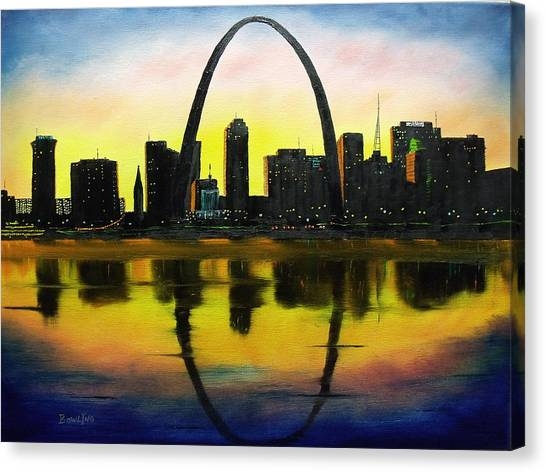 Gateway Arch Canvas Print - St. Louis Sunset by Don Bowling