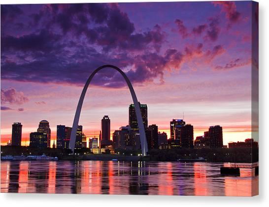 St Louis Sunset Canvas Print
