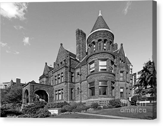 University Of Missouri Canvas Print - St. Louis University Samuel Cupples House by University Icons