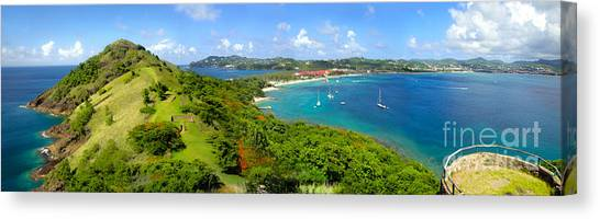 St Lucia - Rodney Bay Panorama - 01 Canvas Print