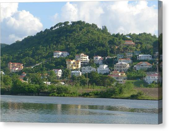 St. Lucia - Cruise View  Canvas Print