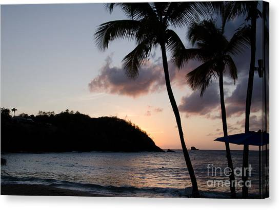 St. Lucian Sunset Canvas Print