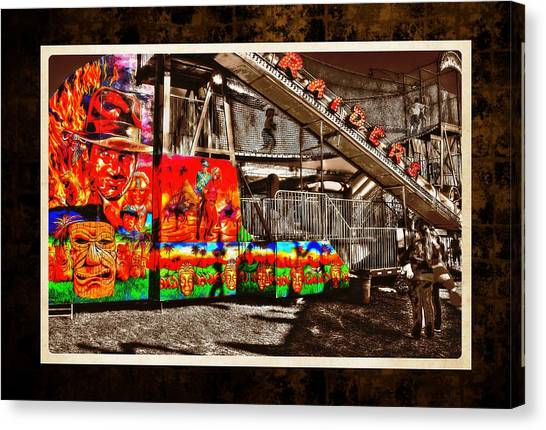 Raiders Of The Lost Ark Canvas Print - St Lucie County Fair by Richard Hemingway