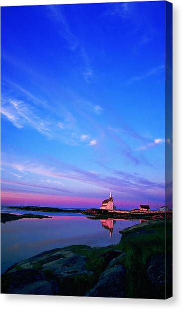Newfoundland And Labrador Canvas Print - St. Lukes Anglican Church, Newtown by Ian Taylor
