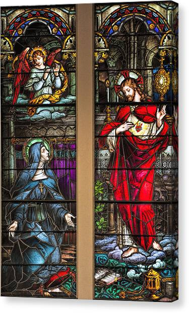 St. Margaret Mary Alacoque And Sacred Heart Of Jesus Canvas Print