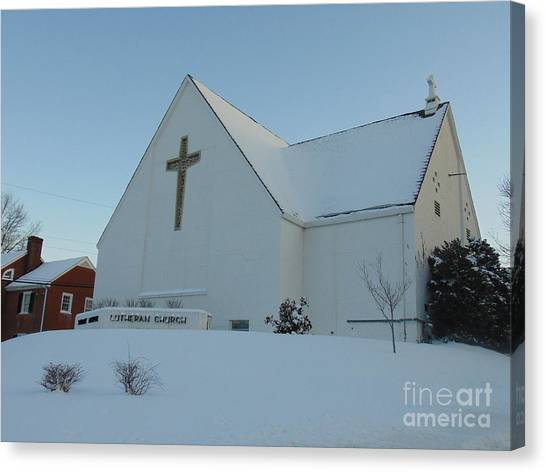 St. Marks Lutheran Church Canvas Print