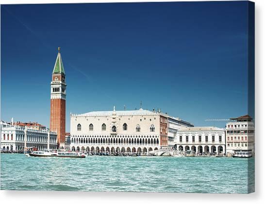 St Marks Square With Venice Skyline Canvas Print by Franckreporter