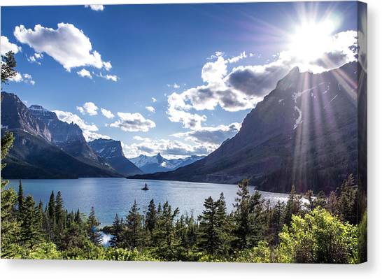 St. Mary Lake Canvas Print