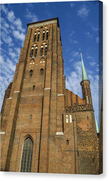 St. Mary's Church In Gdansk Canvas Print by Adam Budziarek