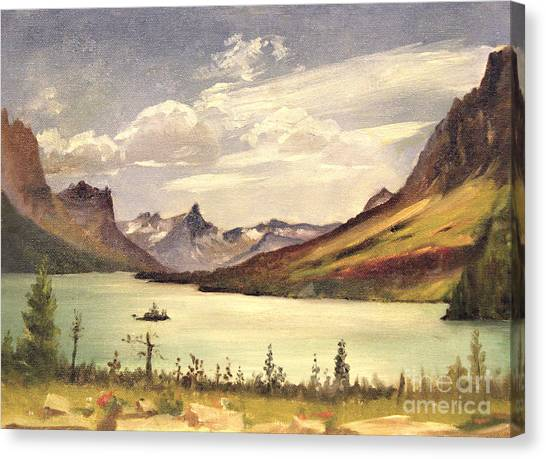 St. Marys Lake- Glacier Park 1935 Canvas Print