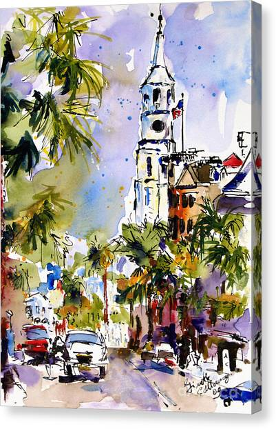 St Michael's Church Charleston South Carolina Canvas Print