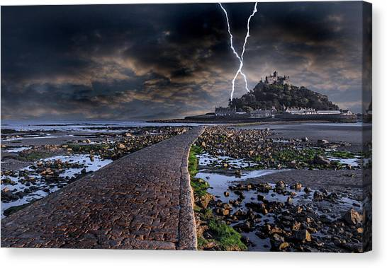 Cathedral Rock Canvas Print - St Michael's Mount Cornwall by Martin Newman