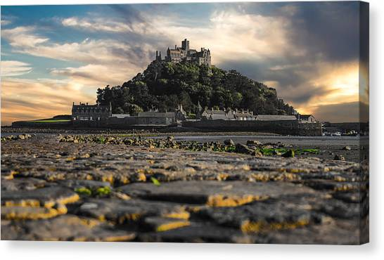 Cathedral Rock Canvas Print - St Michael's Mount Cornwall Uk by Martin Newman