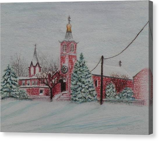 St. Nicholas Church Roebling New Jersey Canvas Print