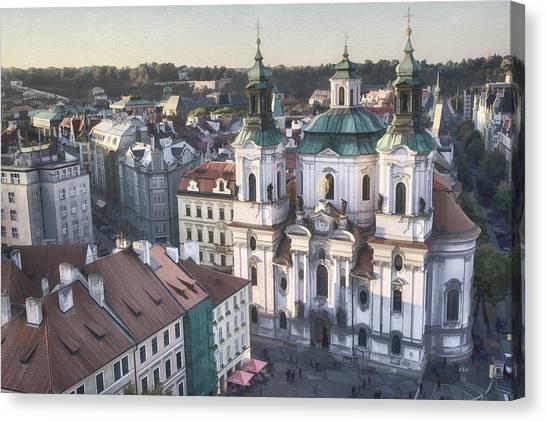 Baroque Art Canvas Print - St Nicholas Prague by Joan Carroll