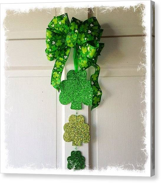 Lucky Canvas Print - St Patricks Day Door Decor For $7!  I by Teresa Mucha