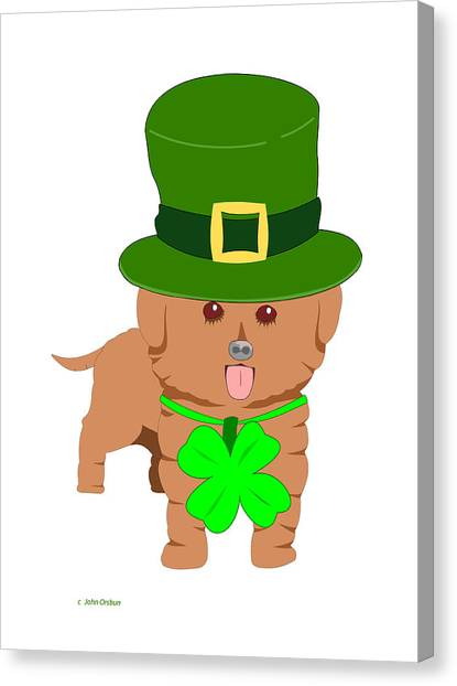 St. Patrick's Dog Canvas Print