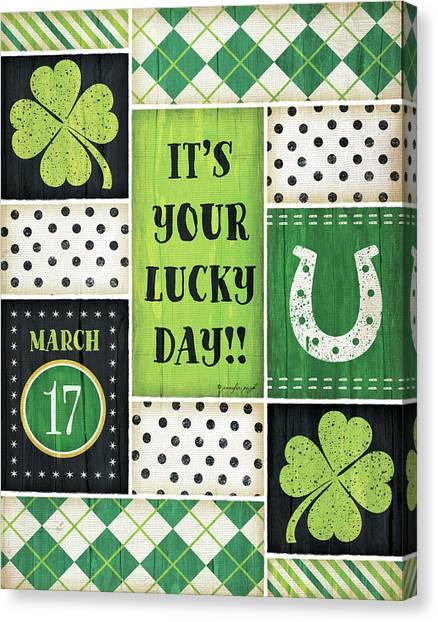 St. Patricks Day Canvas Print - St. Patrick's by Jennifer Pugh