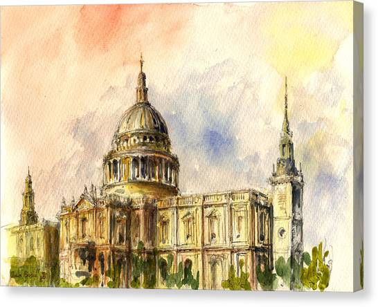 St Paul Cathedral Canvas Print by Juan  Bosco