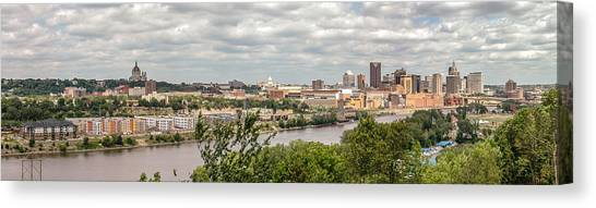 St Paul Skyline 2005 Canvas Print