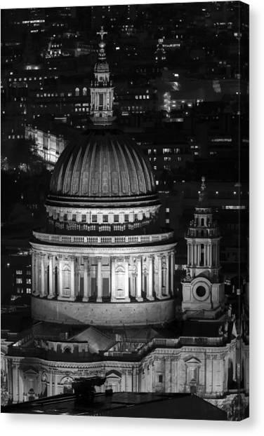 London St Pauls At Night Canvas Print