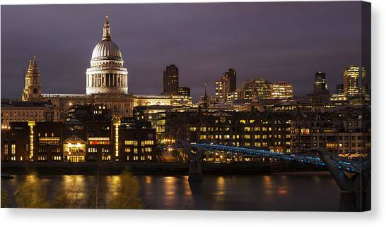 St Paul's At Night Canvas Print by Nigel Kenny