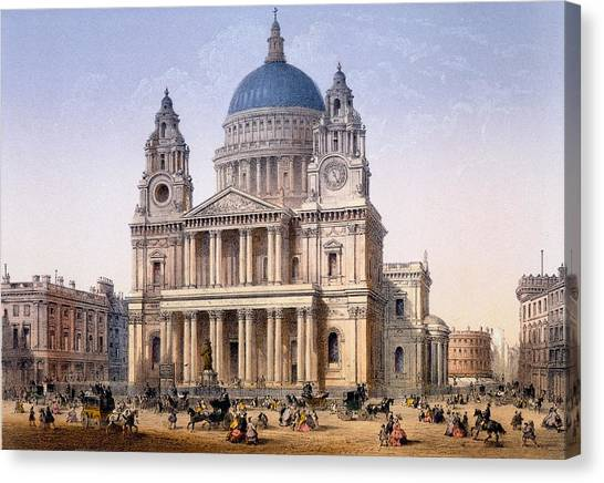 Wrens Canvas Print - St Pauls Cathedral by Achille-Louis Martinet
