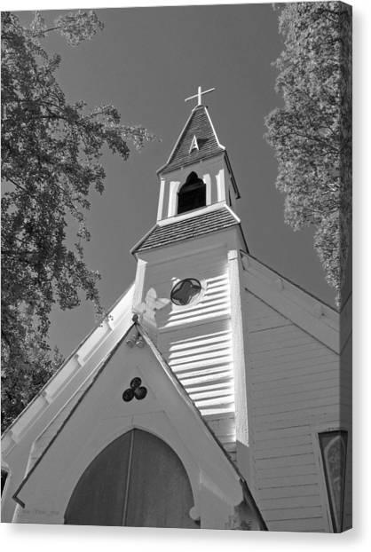 St. Paul's Church Port Townsend In B W Canvas Print