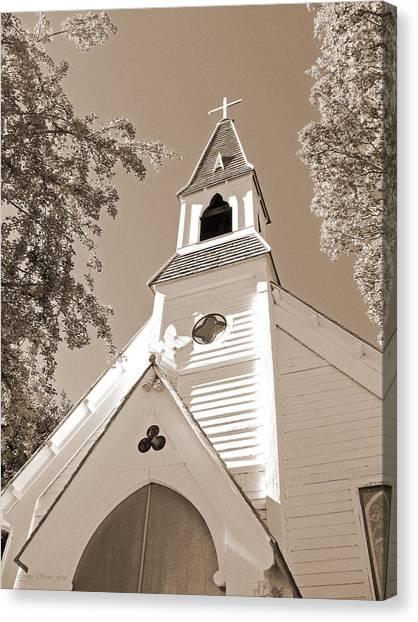 St. Paul's Church Port Townsend In Sepia Canvas Print