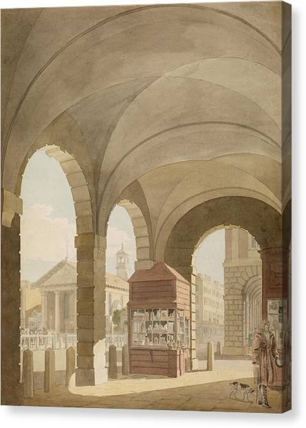 Vault Canvas Print - St. Pauls, Covent Garden C.1765-75 Graphite And Wc On Paper by John Miller