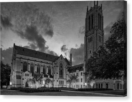 Holocaust Museum Canvas Print - St. Paul's United Methodist Church In Bw - Houston Texas by Silvio Ligutti