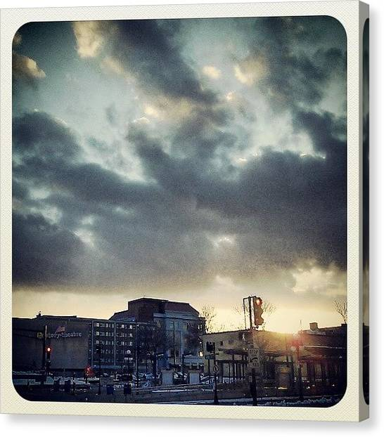 Stoplights Canvas Print - St. Pawl by Shawn McNulty