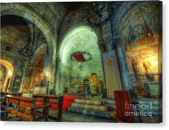 St Pere De Puelles Church - Barcelona Canvas Print