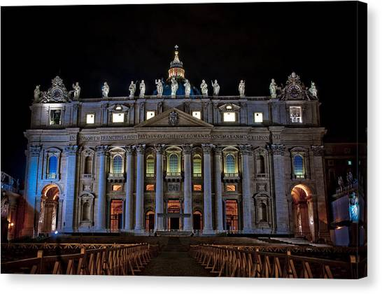 St Peter's At Night Canvas Print