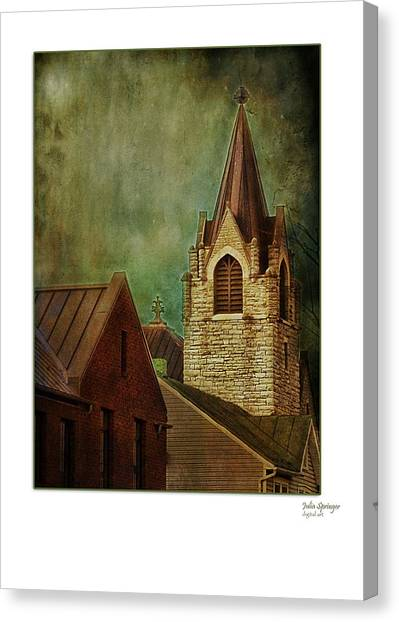 St Peter's By Night Greeting Card Canvas Print