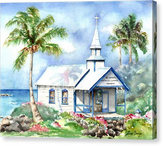 Lava Canvas Print - St. Peter's by Lisa Bunge