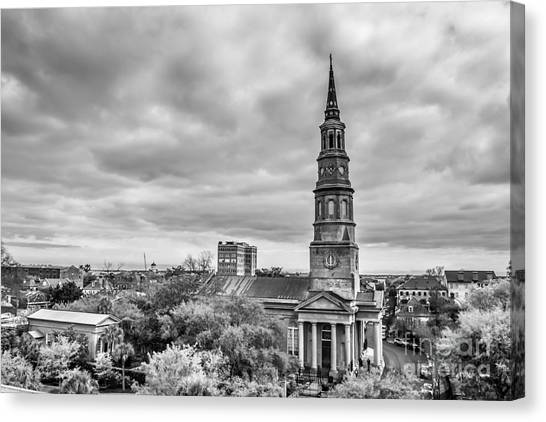St. Philip's Church X Downtown Charleston Canvas Print by Philip Jr Photography