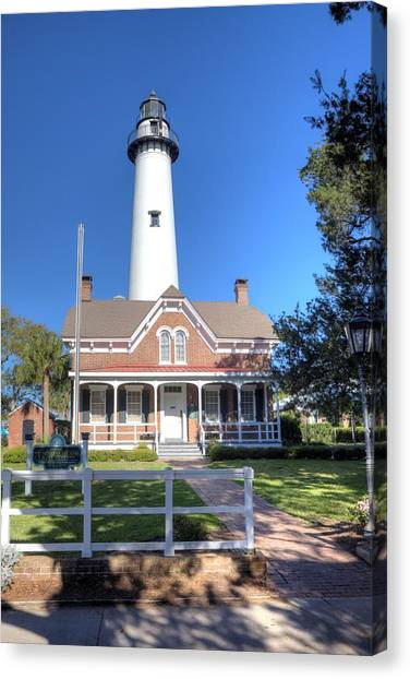St. Simons Island Light Station Canvas Print